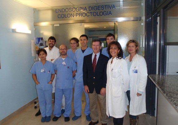 Anthony J. Di Marino, Valeria Villani e lo staff di Endoscopia